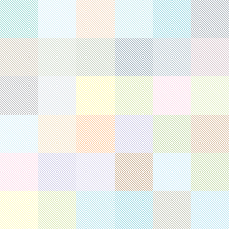 Seamless geometric vector pattern. Thin bands form multicolored squares.