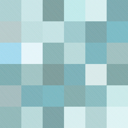 Geometric vector seamless pattern. Thin colored diagonal lines form multicolored squares. Vektorové ilustrace