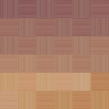 Seamless geometric vector pattern in brown colors. Thin colored vertical and horizontal lines form multicolored squares. Ilustração