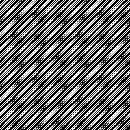 Relief-less infinite diagonal texture, black lines of variable width on white. Seamless vector pattern, repeat texture background. A simple geometric texture with a grid of straight diagonal parallel strips.