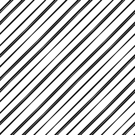 Seamless vector pattern of straight parallel lines of variable thickness. A simple geometric texture with a grid of straight diagonal parallel strips. Ilustração