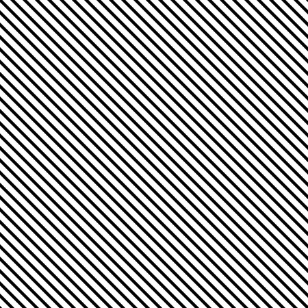 Seamless vector pattern of straight parallel white and black lines of lines of equal thickness. A simple geometric texture with a grid of straight diagonal parallel strips.