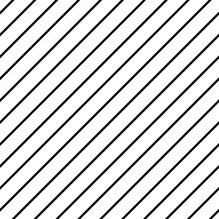 Infinite thin black lines on white. Seamless vector pattern, repeat texture background. A simple geometric texture with a grid of straight diagonal parallel strips.