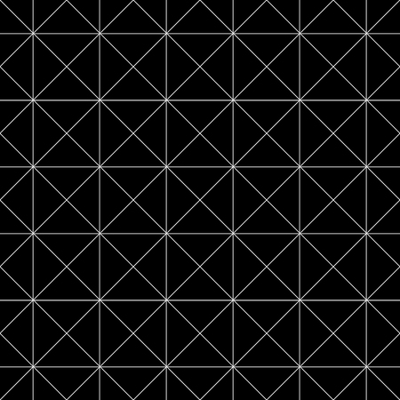 Ornamented pattern of triangles, seamless white and black abstract vector background Ilustração