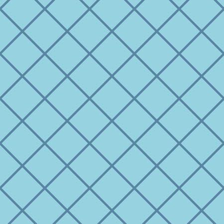Diagonal checkered pattern of fine lines. Seamless vector illustration. Abstract geometric monochrome texture with thin diagonal transverse lines, rhombuses, a grid, a lattice. Simple thin checkered background. Modern design of repetition Ilustração