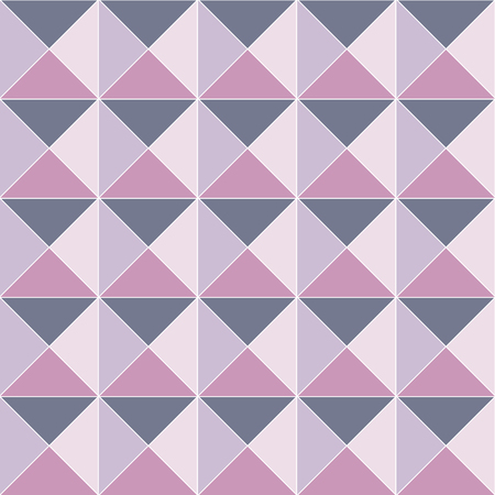 Ornamented pattern of colored triangles, seamless abstract vector background with square pyramids Ilustração