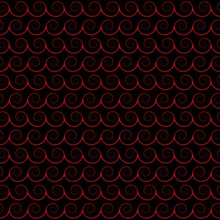 Abstract seamless pattern. Waves, spirals, whorls