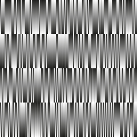 Seamless vector black and white pattern from gradient lines