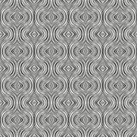 Seamless vector black and white pattern from gradient lines Imagens - 95350568
