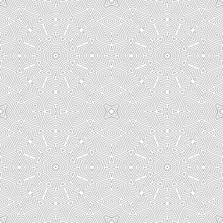 Repeating abstract background with stylized flowers on Modern stylish texture. Illustration