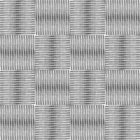 Black and white vector geometric pattern of fine lines. Square texture.