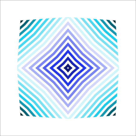 Diagonal squares, rhombuses in gray and blue tones. Striped vector pattern.