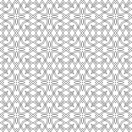 Seamless black and white geometric pattern. Vector abstract openwork background. A template with a geometric order. Illustration