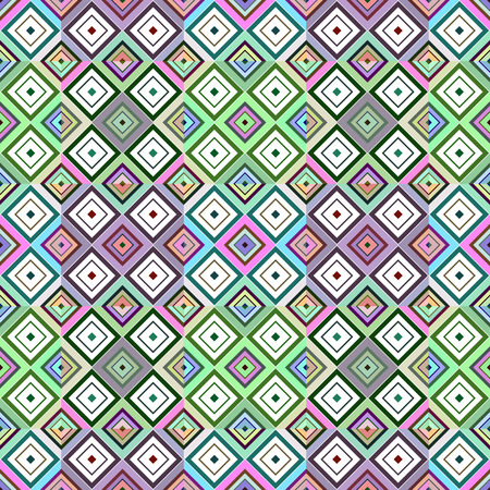 Colored rhombuses, abstract background. Vector seamless pattern.