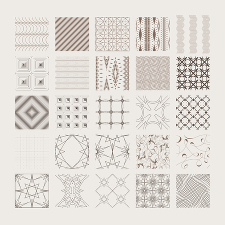 A Vector seamless patterns, universal different tiling.