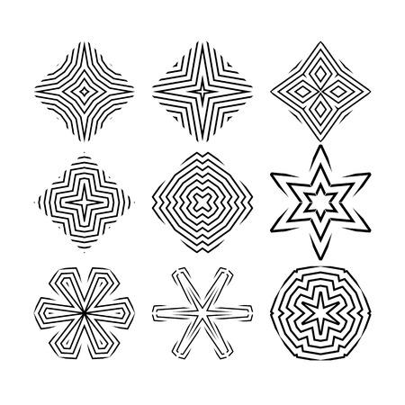 Design elements for creating different shapes Ilustração