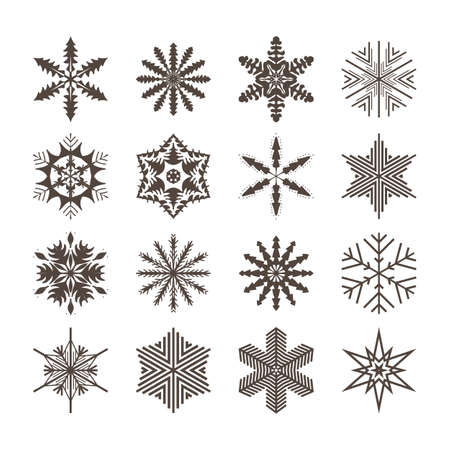 Snowflake set for winter design. Vector illustration Illusztráció