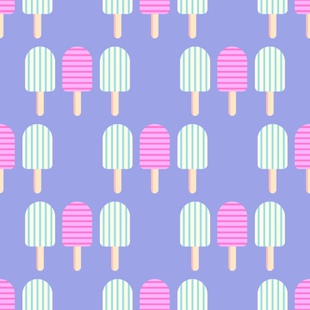 Seamless vector pattern with ice-cream.