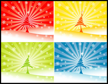 vector christmas tree Stock Vector - 3319967