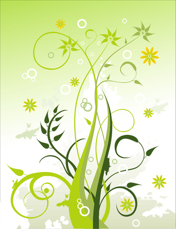 vector composition Floral Design Vector