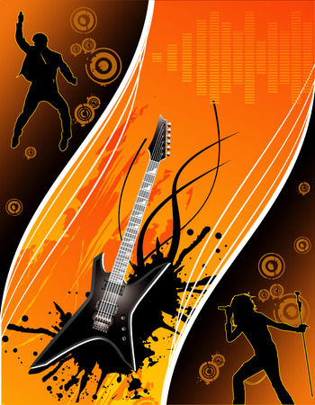 vector music illustration Stock Vector - 3319974
