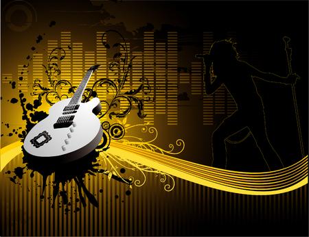 Rock vector diseño ilustración