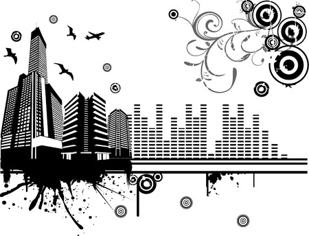Vector Party City Illustration Stock Vector - 3337455