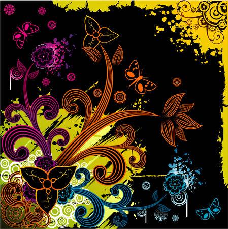 vector fantasy flower illustration Vector