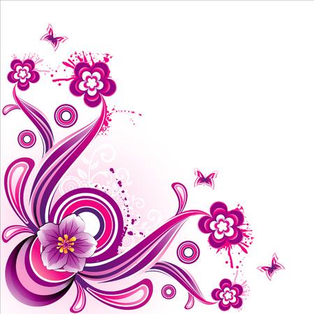 Vector fantasy flowers illustration Vector
