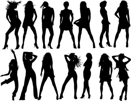 vettore moda donne silhouette Archivio Fotografico - 3591373