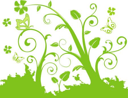 vector flower illustration Stock Vector - 3687756