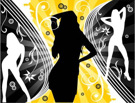 vector fantasy flower and beauty women illustration Stock Vector - 3691425