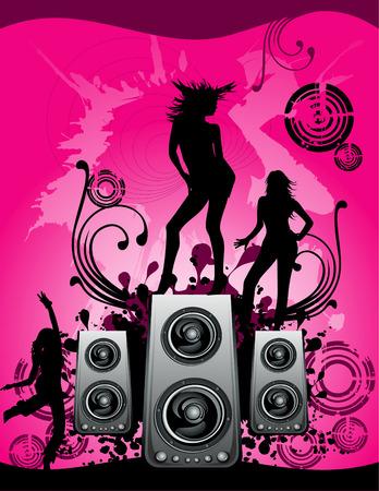 trance: vector party illustration Illustration