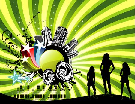 vector music illustration