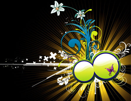 vector flower illustration Stock Vector - 4139459