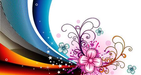 vector flower illustration Stock Vector - 4267859
