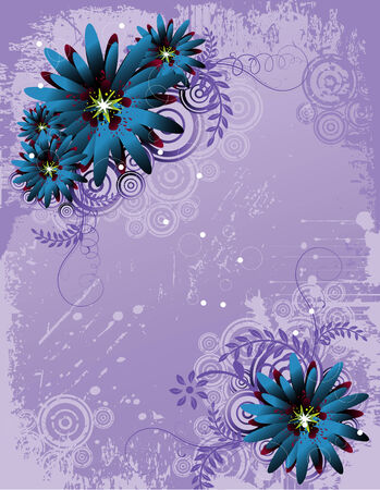 vector flower illustration Stock Vector - 5084829