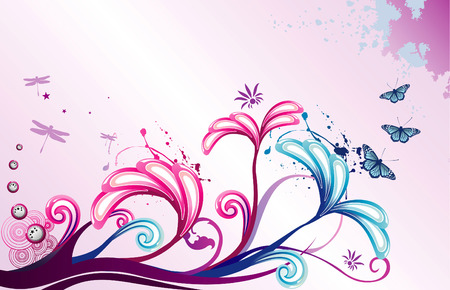 vector flower illustration Stock Vector - 5344886