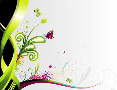 vector flower illustration Stock Vector - 5439166