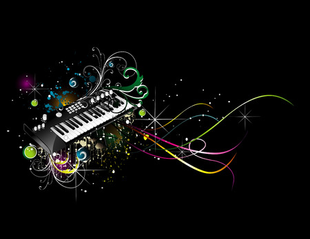 discoball: vector music illustration