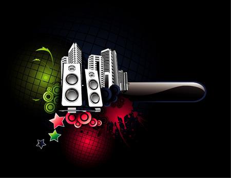 vector music illustration Stock Vector - 12935078