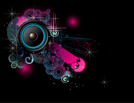 vector music illustration Stock Vector - 5914028