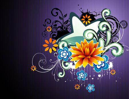 vector fantasy flower illustration Stock Vector - 6185005