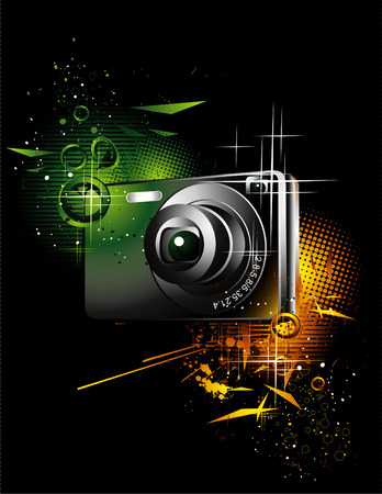 digital camera: camera illustration