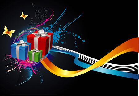 joyous: vector gift illustration