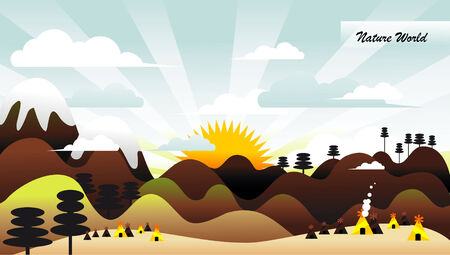 landscape illustration Stock Vector - 8607098