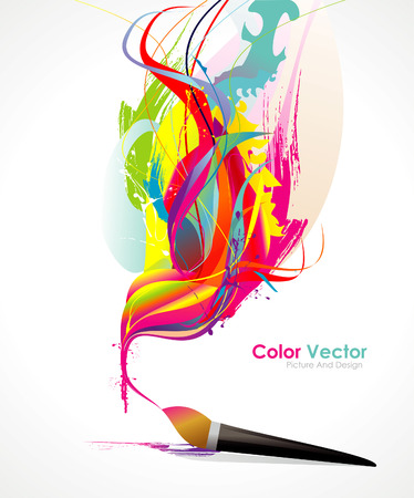 color wall: paint illustration Illustration