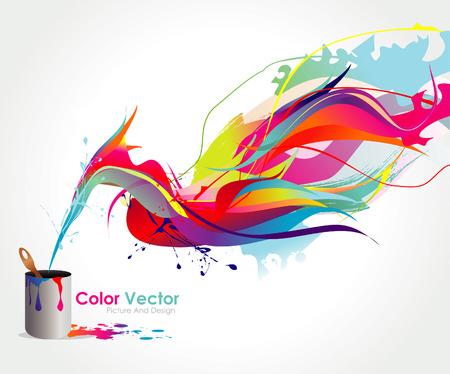 splash color: illustrazione di vernice