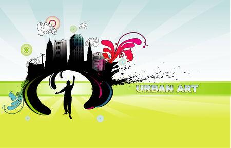 urban art: urban art illustration Illustration