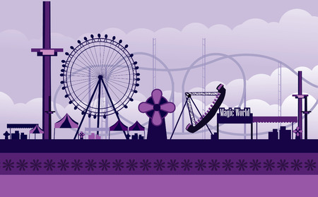 amusement park rides: amusement park illustration
